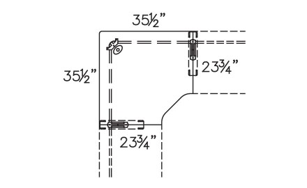 Plan View of 850-2436CM with Connector Units