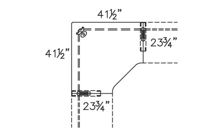 Plan View of 850-2442CM with Connector Units